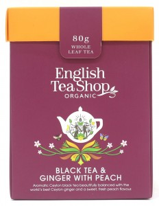 Herbata organiczna Black Tea Ginger with Peach 80g